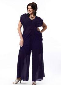 Dámský večerní kalhotový oblek 21