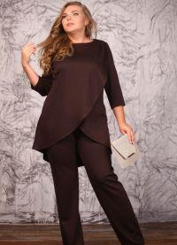 Dámský večerní kalhotový oblek 25