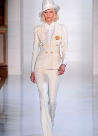 Dámský večerní kalhotový oblek 9