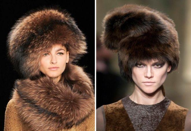 damskie futrzane czapki 1