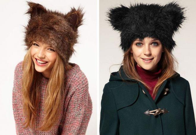 damskie futrzane czapki 10