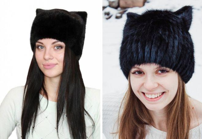 damskie futrzane czapki 11