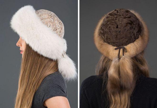 damskie futrzane czapki 18