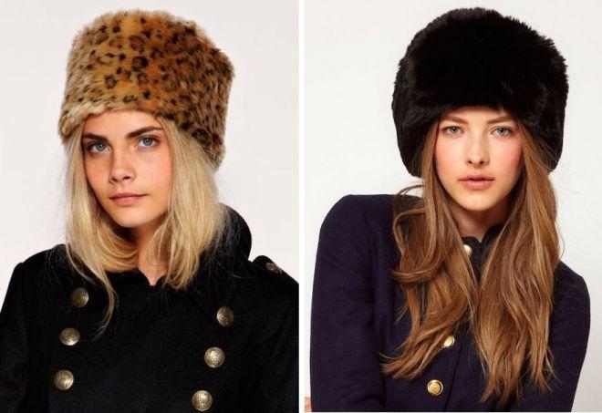 damskie futrzane czapki 19