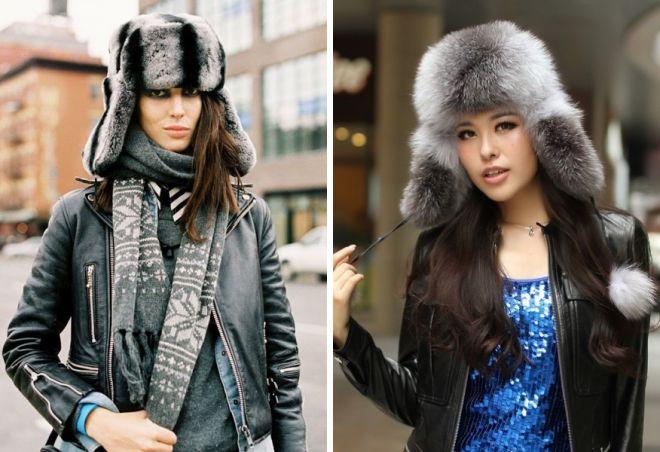 damskie futrzane czapki 25