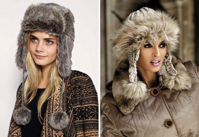 damskie futrzane czapki 4