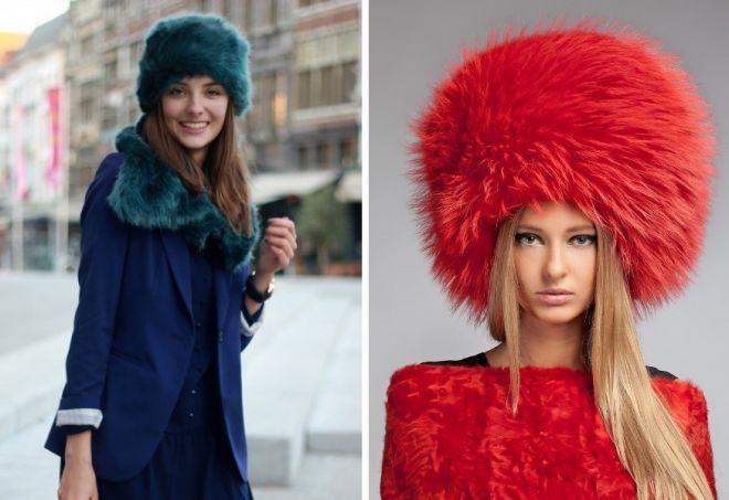 damskie futrzane czapki 5