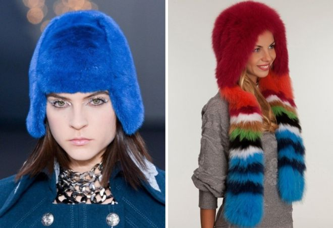 damskie futrzane czapki 6