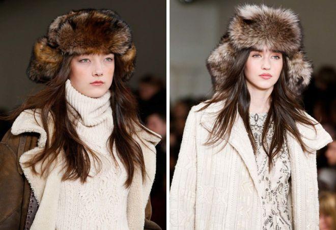 damskie futrzane czapki 7