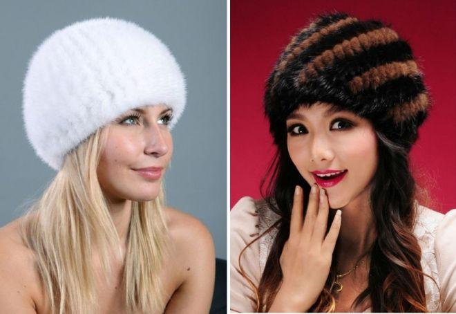 damskie futrzane czapki 9