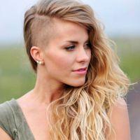 modna fryzura z ogolonymi świątyniami dla kobiet 6