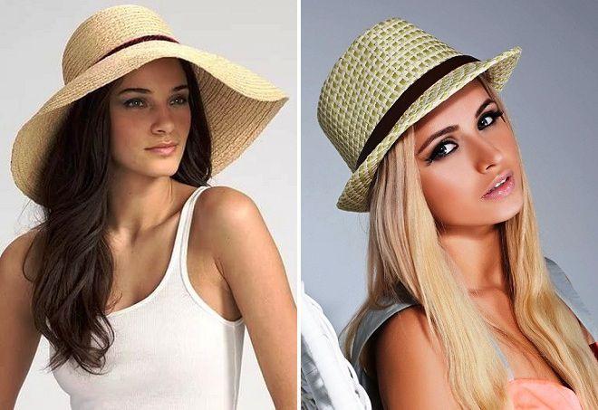 соломенная женская шляпка