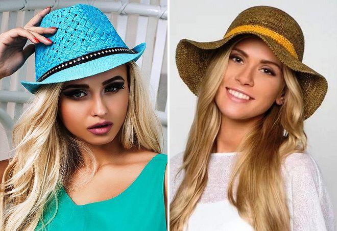 женские шляпки для пляжа