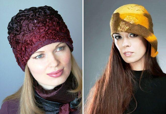 валяные женские шляпки