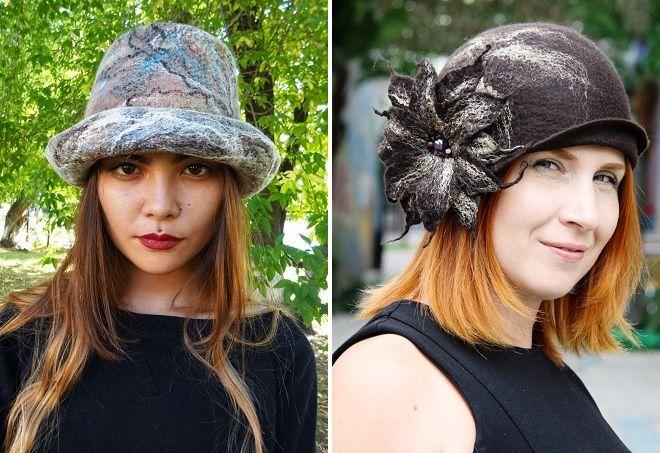 шляпки из шерсти для женщин