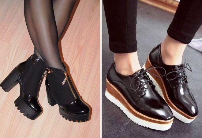čevlji z debelimi podplati za pomlad 2017