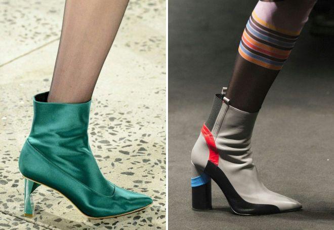 осенние ботинки с острым носом 2017