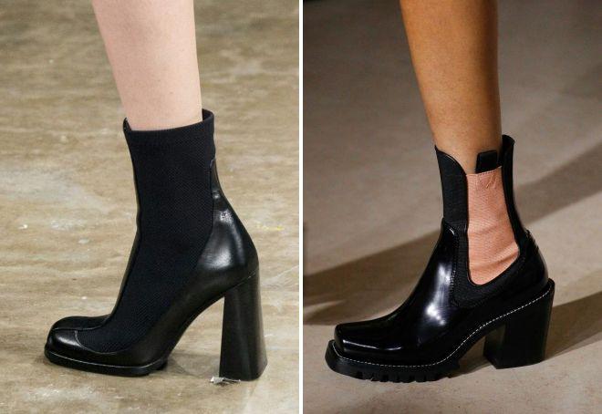 какие женские ботинки в моде осенью 2017