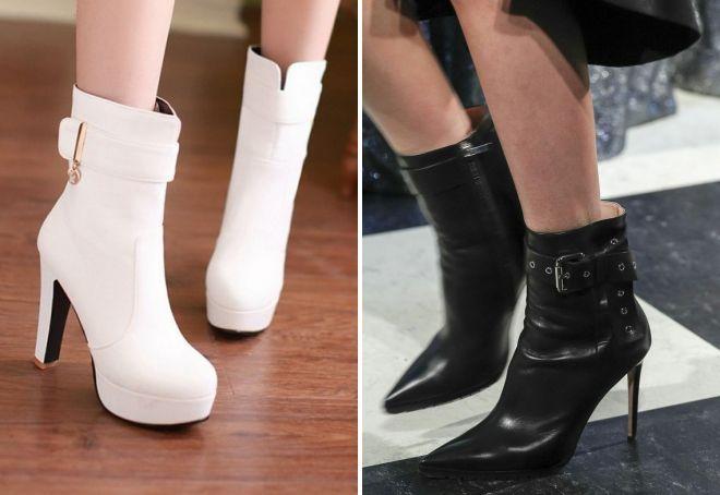 ботинки на каблуке осень 2017