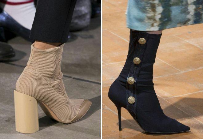 женские осенние ботинки на каблуке 2017