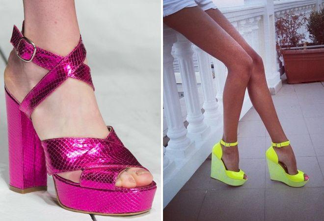 модные цвет обуви лето 2017