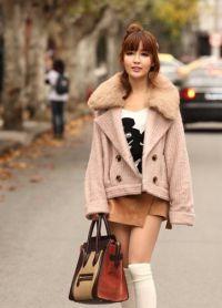 Krótki płaszcz damski 5