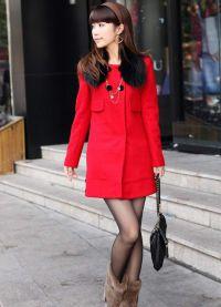 Krótki płaszcz damski 6