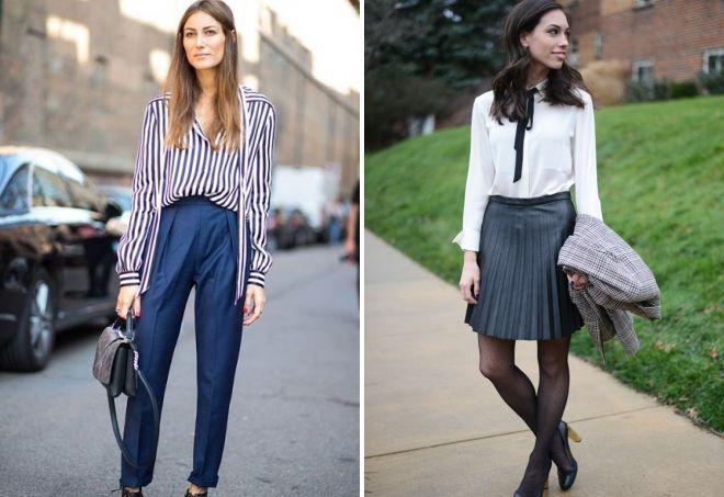 стильные образы с блузками