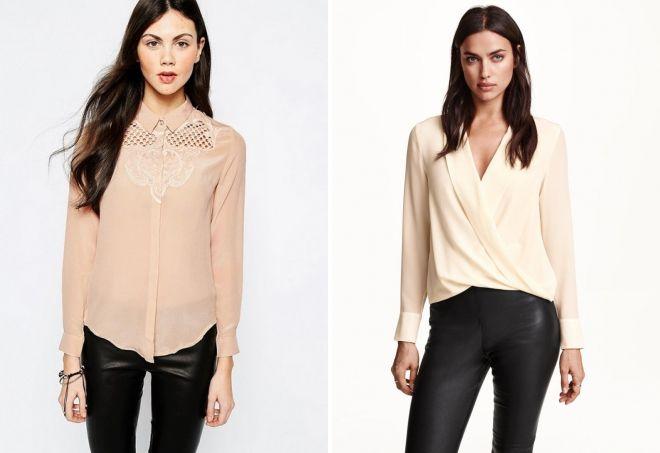 стильные блузки для женщин