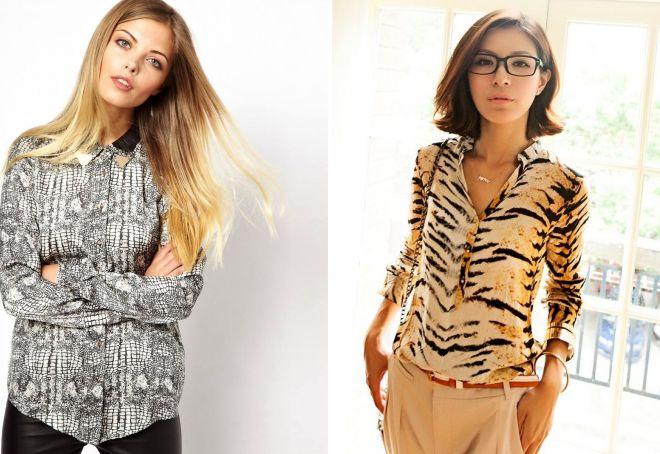женские стильные рубашки 2017