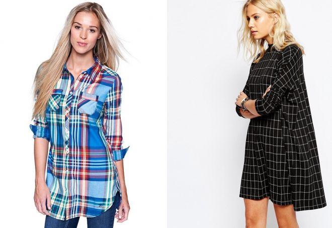 женские стильные удлиненные рубашки