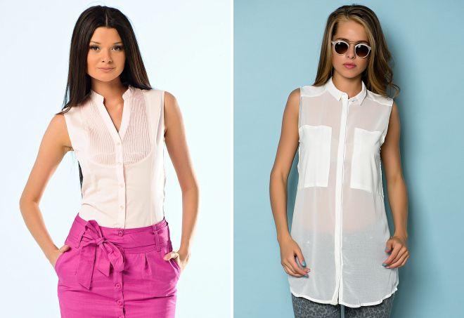 стильные белые женские рубашки