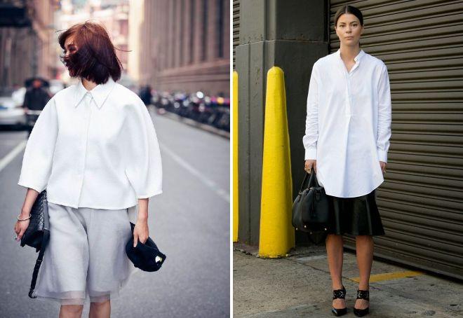 стильная белая рубашка