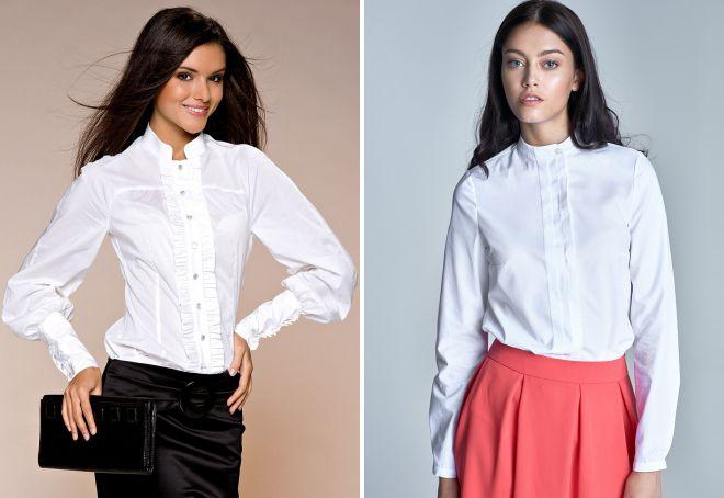 женские стильные офисные рубашки