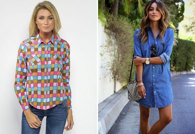 стильные рубашки для девушек