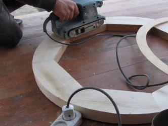 Świecznik wykonany z drewna własnymi rękami 10