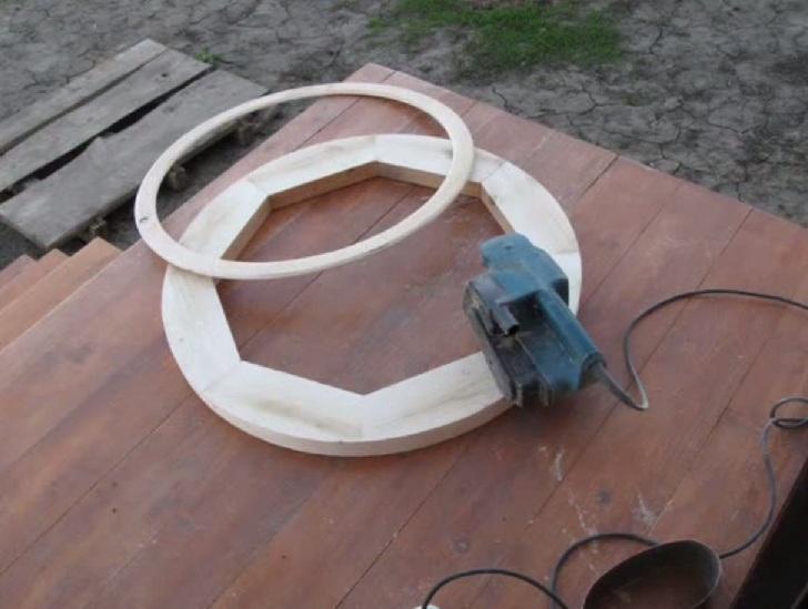Drewniany żyrandol zrób to sam 12