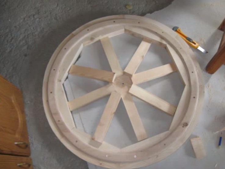 Wood żyrandol zrób to sam 18