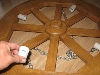 Świecznik wykonany z drewna własnymi rękami 33
