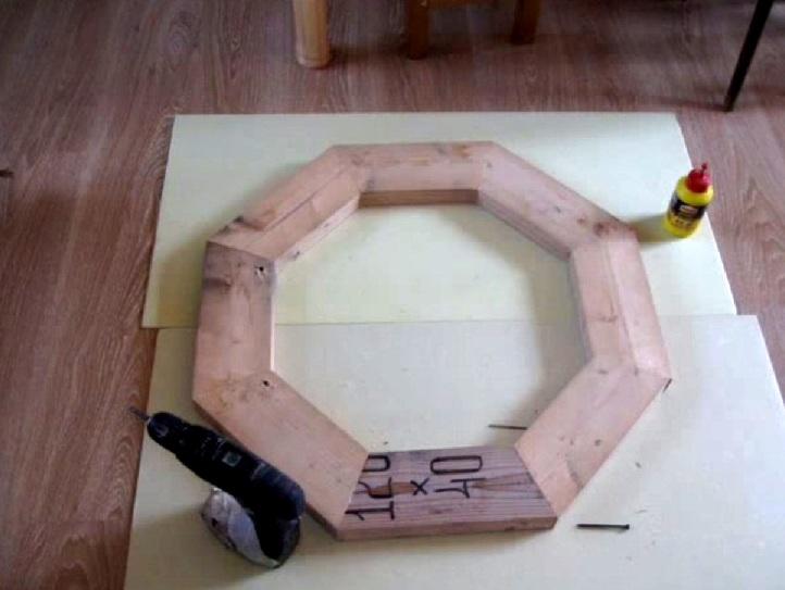 Drewniany świecznik DIY 7