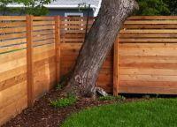 дрвена декоративна ограда 2