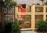 дрвена декоративна ограда 6