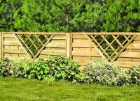 дрвена декоративна ограда 7