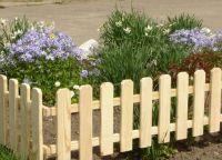 дрвена декоративна ограда 8