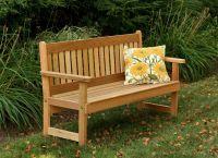 drewniane ławki do ogrodu