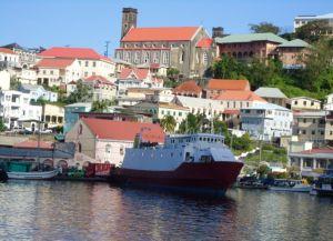 Вид на город с яхты