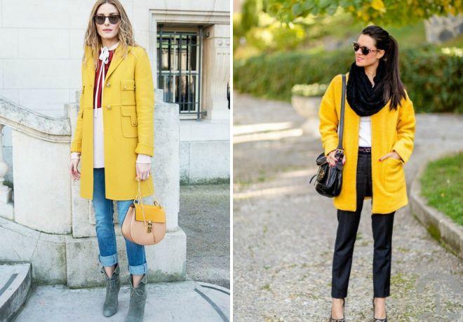 dziewczyna w żółtym płaszczu