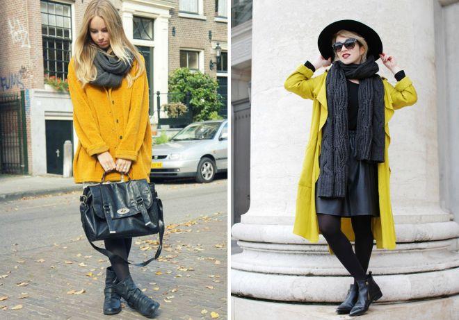 jaki szal będzie pasował do żółtej szaty