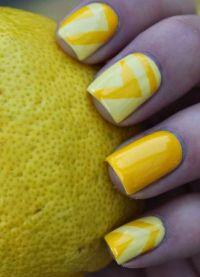 žuta manikura 2015 3