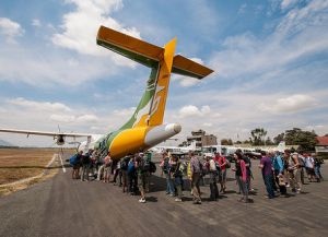 Самолет на Занзибар